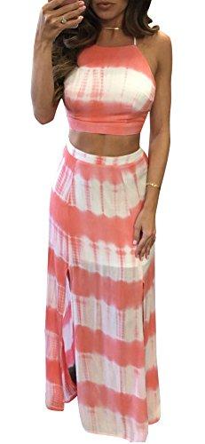 Pink 2 Piece Skirt Dress - 9