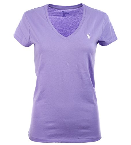 Ralph Lauren Sport Women's Lightweight V-Neck T-Shirt 2016 Model (Large, Purple - Models Male Ralph Lauren