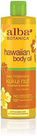 Alba Botanica Deep Moisturizing Kukui Nut Hawaiian Body Oil, 8.5 oz.