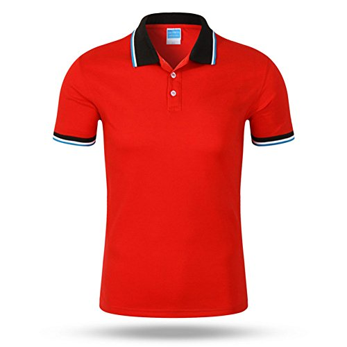 Bencreative Shirt Manches Courtes Polo Rouge T Sports Poloshirts Hommes Shirt Coton Casual Homme rWtnqrXF