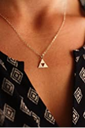 Triforce Necklace - IBD - Legend of Zelda Fan Gift - Gamer Jewelry - Geekery - TriForce - 1, 3/4, 1/2 Inch Sterling Silver Pendant - Custom Chain Length - Fast 2 Day Shipping