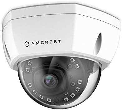 Amcrest 1080P Outdoor PoE Camera Vandal Dome, 2MP Security IP Camera – Night Vision, IP67 Weatherproof, 2Megapixel 1920 TVL , IP2M-851EW White