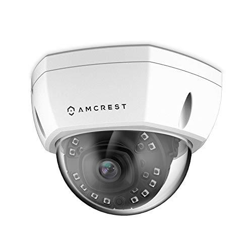 Amcrest ProHD Outdoor 1080P PoE Vandal Dome IP Security Camera – IP67 Weatherproof, 2MP 1920 TVL , IP2M-851EW White
