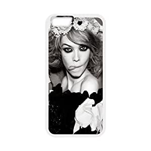 Cute TPU Case Celebrities Siri Tollerod Black And White iPhone 6 Plus 5.5 Inch Cell Phone Case White
