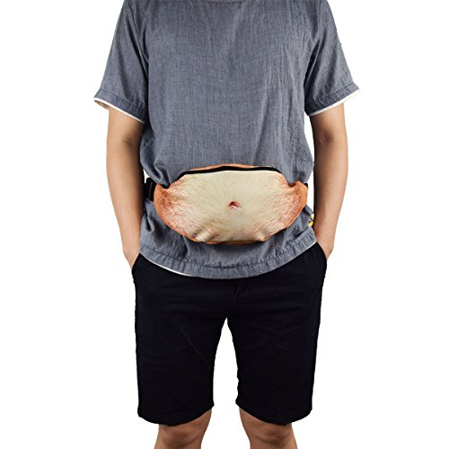 Dad Bag Fanny Pack Fake Belly Waist Bag Beer Belly Bag with Adjustable Belt by Shovan, Yellow