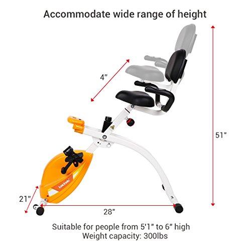 Loctek U1 Under Desk Bike Upright Stationary Foldable