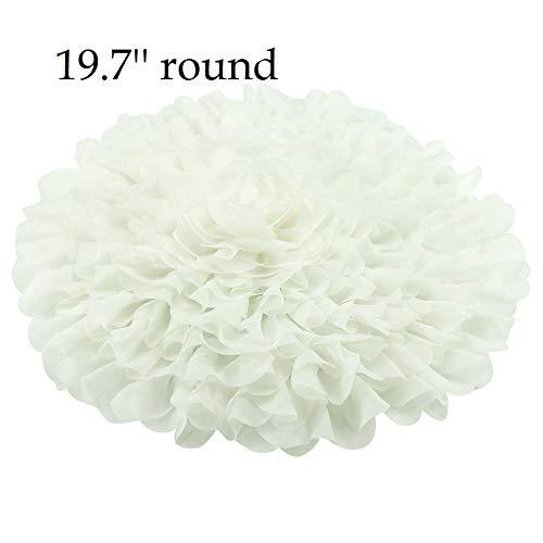 Handcraft Soft Chiffon Round Flower Blanket Newborn Photography Props Girl