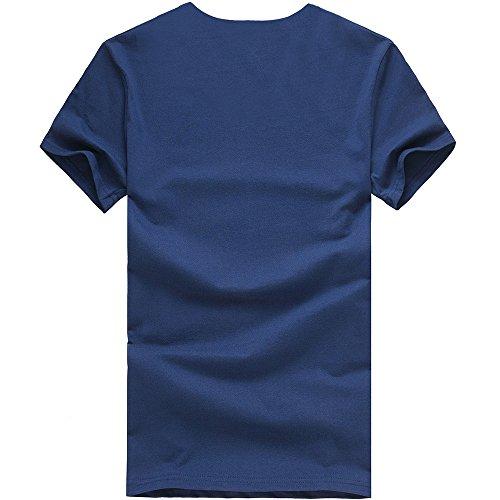 Casual Sportivi Particolari shirt Camicia Magliette T Uomo Estiva Elegante Homebaby® Corta Tumblr Marina Vintage Stampa Cotone Corte Stretch Manica Maglietta Maglione YzTvA