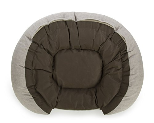 Sterling Premium Cooling Gel Memory Foam Pet Bed, Plush with Woven Linen, Beige by Sterling (Image #1)