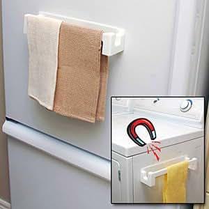 Magnetic Fridge Dish Towel Holder Kitchen Dining