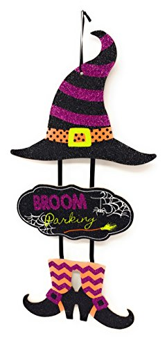 Halloween Stacked Hanging Door/Wall Witch Sign, 29 in.