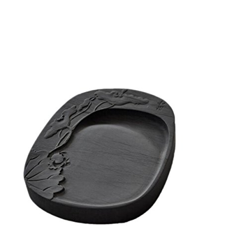 Natural Inkstone Gifts Yan Wenfang Four Treasures Six-inch Carved Pattern Harmonious Ink Stone Rib Ink Stone Collectibles Christmas Gifts by GHGJU