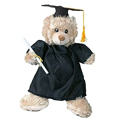 "Graduation Gown w/Hat Outfit Fits Most 8""-10"" Webkinz, Shining Star and 8""-10"" Make Your Own Stuffed Animals and Build-A-Bear: Toys & Games"