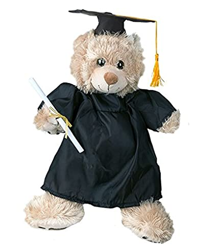 Amazon.com: Graduation Gown w/Hat and Scroll Outfit Teddy Bear ...