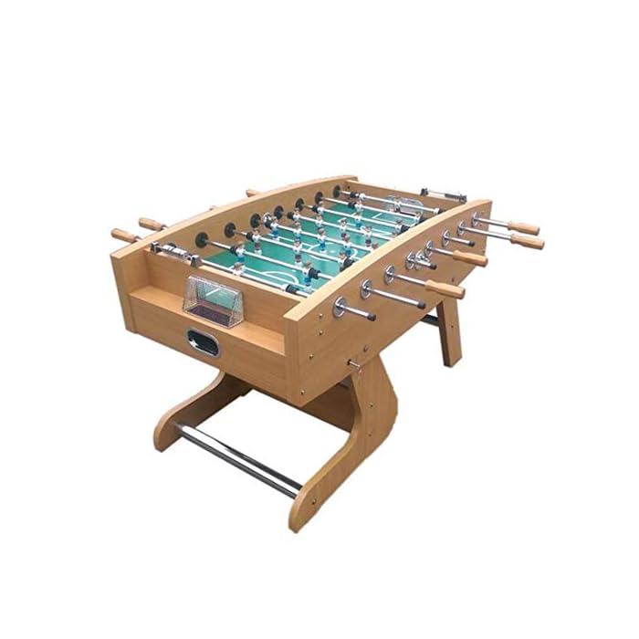"""41lTOnDih0L ✅ BOLETO PEQUEÑO PARA TODAS PARTES: El práctico tablero """"Kicker"""" se adapta a cualquier mesa, pero también se puede usar en todas las superficies planas. ✅ ALTA CALIDAD Y SEGURIDAD: la pequeña mesa de fútbol tiene un cuerpo hecho de una decoración de plástico insensible, campo de juego endurecido, figuras hechas de plástico duro resistente, gomas antideslizantes, amortiguadores de barra, barras cromadas con cerradura de seguridad para niños. ✅ TAMAÑO COMPACTO Y PESO LIGERO: Gracias a sus dimensiones compactas y bajo peso, la Mini Foosball Table es perfecta para divertirse con patadas móviles y flexibles."""