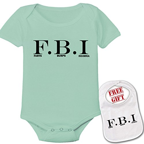 Fbi Romper - FBI Baby Novelty Romper Boutique Onesie Bodysuit