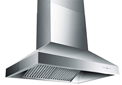 Z Line 697-36-LED Stainless Steel Wall Mount Range Hood, 36-Inch