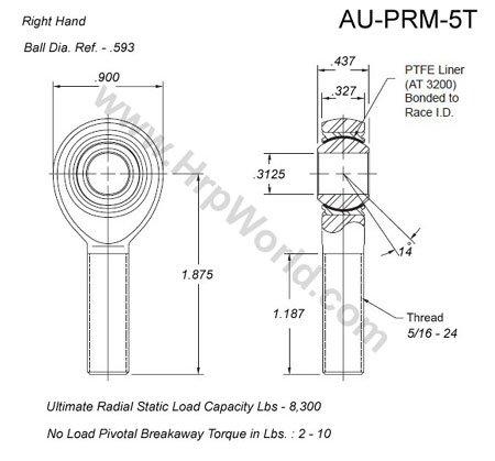 Aurora Bearing Company PRM-5T; .312