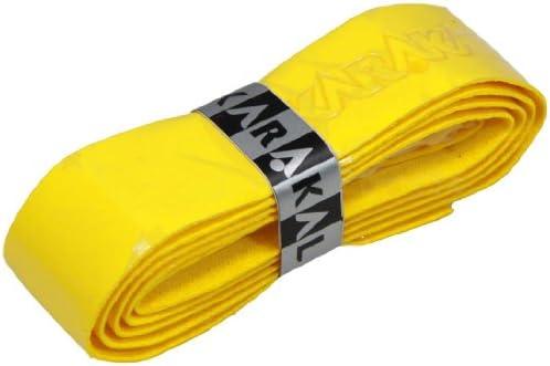Karakal PU Supergrip Replacement Racquet Grip - Tennis/Badminton/Squash (Yellow, 6 x Grips)