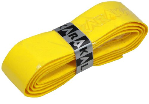 Karakal PU Supergrip Replacement Racquet Grip - tennis/badminton / squash 2 x Grip(Yellow) - Karakal Pu Super Grip