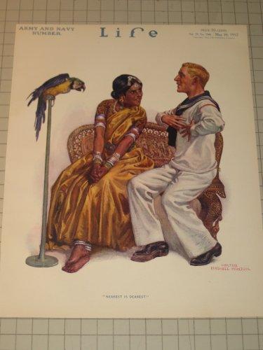 1912 Life Cover: Sailor, Indian Princess & Parrot - Coca Cola Ad - Coke