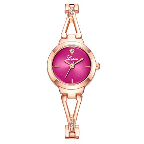 Women's Watches Bracelet Diamond Round Dial Ladies Fashion Dress Quartz Wrist Watch