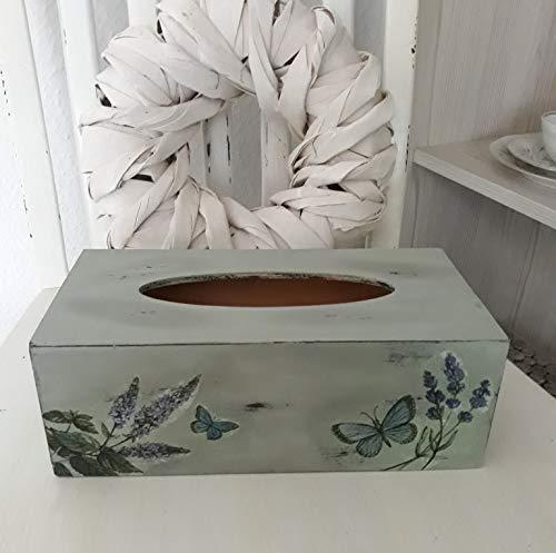 Kosmetiktücherbox Holz Shabby Chic Dekoration Bad Holzbox ...