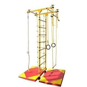 Sprossenwand Klettergerüst Turnwand Kindersportgerät FitTop M1 (Gelb)
