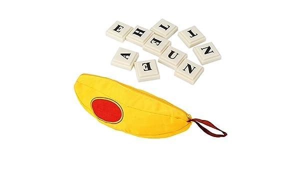 rurah Scrabble plástico Inglés alfabeto Banana Ortografía Juego Juguetes Regalo: Amazon.es: Hogar