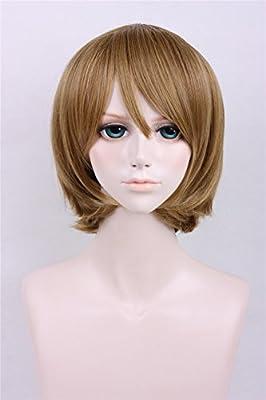 LanTing Peluca Lovelive Hanayo Koizumi Brown Short Styled ...
