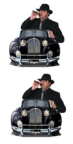 Beistle S57988AZ2, 2 Piece Gangster Car Photo Props, 36.75'' x 24.5''