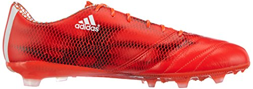adidas F50 Adizero Firm Ground (Leather), Calcio Scarpe da Allenamento Uomo Rosso (Rot (Solar Red/Ftwr White/Core Black))