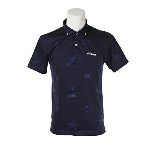 タイトリスト(タイトリスト) 星柄ジャカードシャツ TSMC1812NV (ネイビー/M/Men's)