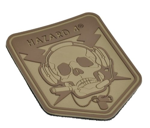 Operation Patches (Hazard 4 Custom Special Operations Skull Rubber 3D Patch, Coyote)