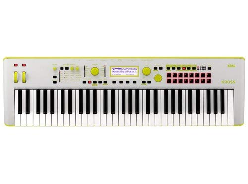 Korg Kross 2-61 61-key Synthesizer Workstation – Limited Edition Neon Green/Gray