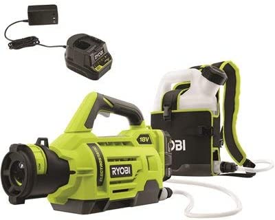 Amazon.com : RYOBI ONE+ 18-Volt Lithium-Ion Cordless Electrostatic Sprayer with 2 2.0 Ah Battery and Charger Included