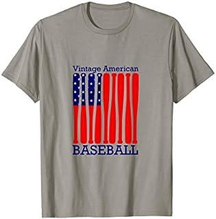 vintage american flag baseball Men Boys women -Tshirt T-shirt   Size S - 5XL