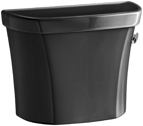 Kohler K-4467-RA-7 Wellworth 1.28 gpf Tank with Right-Hand Trip Lever, Black Black - Ra 7 Wellworth Toilet