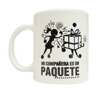 Gopadel - Taza padel mi compañera es un paquete: Amazon.es: Deportes y aire libre