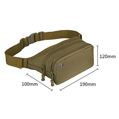 broadroot Unisex Sport klein Taille Pack wasserdicht Camping Fahrrad Outdoor Brust Tasche braun
