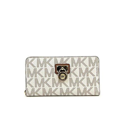 bdad96d2c55fb9 Michael Kors Hamilton Signature Continental Vanilla Wallet - Import It All