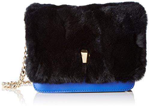 CavalliMilano 005 - Borsa con Maniglia Donna Multicolore (Mehrfarbig (Black/Blue B16))