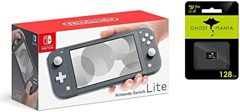 "Newest Nintendo Switch Lite Game Console, 5.5"" LCD Touchscreen Display, Built-in Plus Control Pad, W/Hesvap 128GB Micro SD Card, Built-in Speakers, 3.5mm Audio Jack (Gray)"