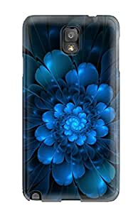 [BfPZlQV9867dUkAy]premium Phone Case For Galaxy Note 3/ Blue Flower Tpu Case Cover