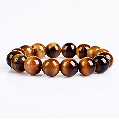 DUOJINZ Fashion Jewelry 12Mm Tiger Eye Stone Beads Men Bracelet Jewelry Wholesale