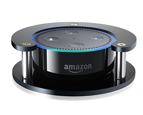 #1 Echo Dot Speaker Stand (Black) - Precision Fit Holder for Enhanced Stability, Protection and Audio Clarity - Lightweight Accessories for Home or Office