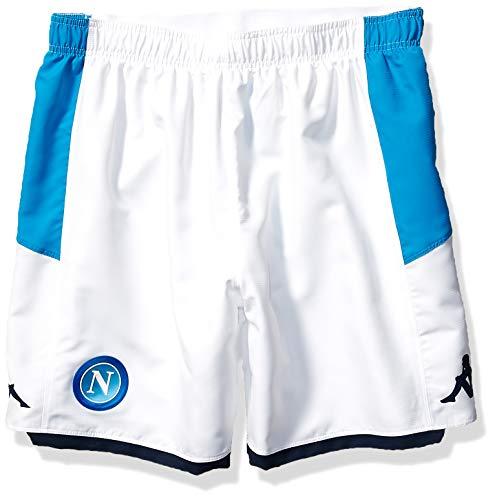 (Ssc Napoli Italian Serie A Men's Home Match Shorts, White, XXL )