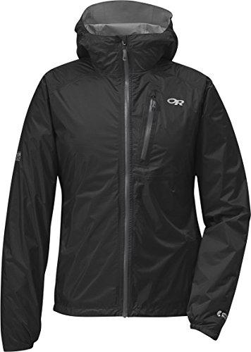 Outdoor Research Women's Helium II Jacket, Black/Charcoal, Large