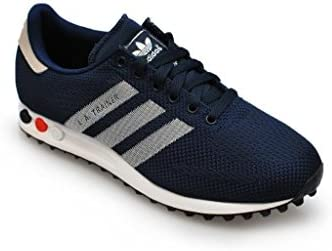 factor propiedad Procesando  Adidas Mens - LA Trainer Weave - Dark Blue Navy White - UK 8: Amazon.co.uk:  Shoes & Bags