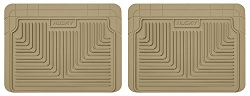 Husky Heavy Duty Floor Mats, 2pc 2nd Seat Mats, Color: Tan ()